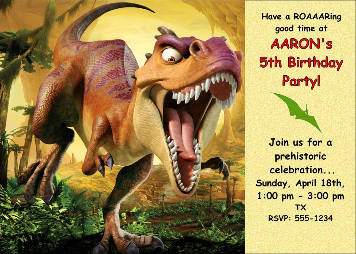 Free Printable Dinosaur Birthday Invitations | yahel\'s party ...