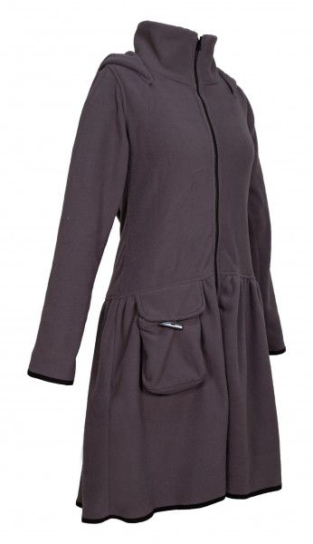 PUREWONDER Mantel aus Fleece, Damenjacke mit Zipfelkapuze ...