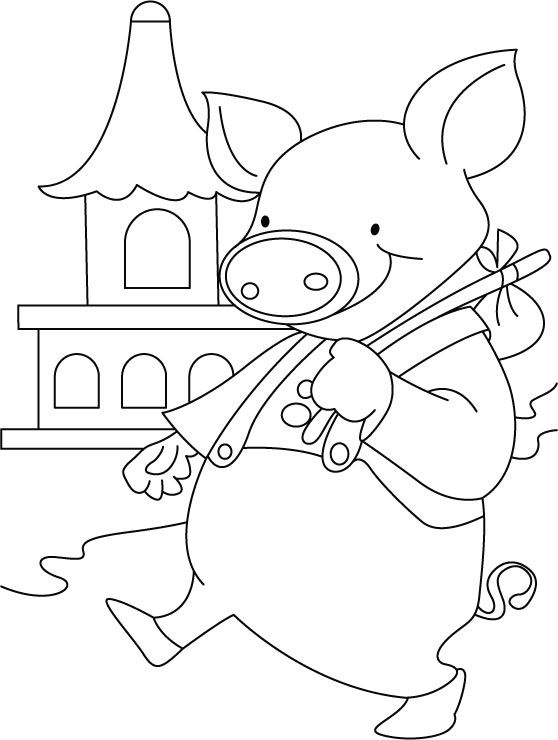Free Printable Pig ready for city