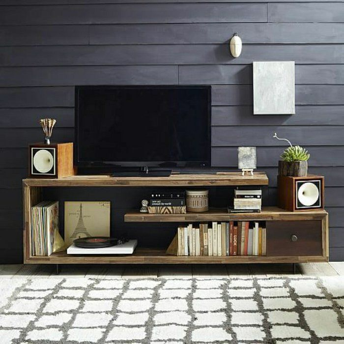 meuble bois massif idee meuble tv