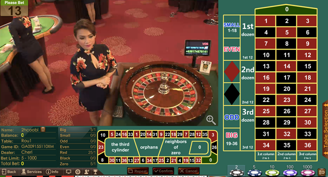 iBET Malaysia Roulette Game in iAG(Asia Gaming) http