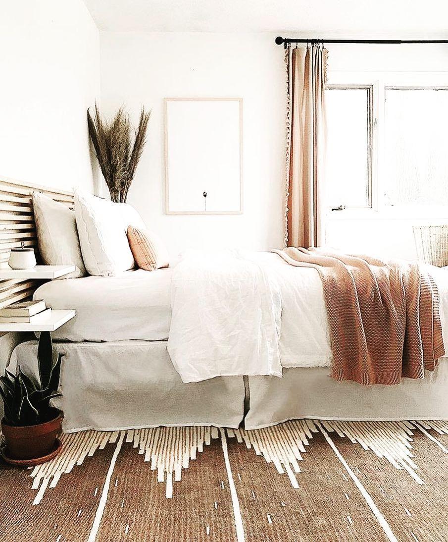 Schlafzimmer Inspiration Lieben Sie die Verwendung von warmen Karamellfarben um die weißen #décorationmaisoncocooning