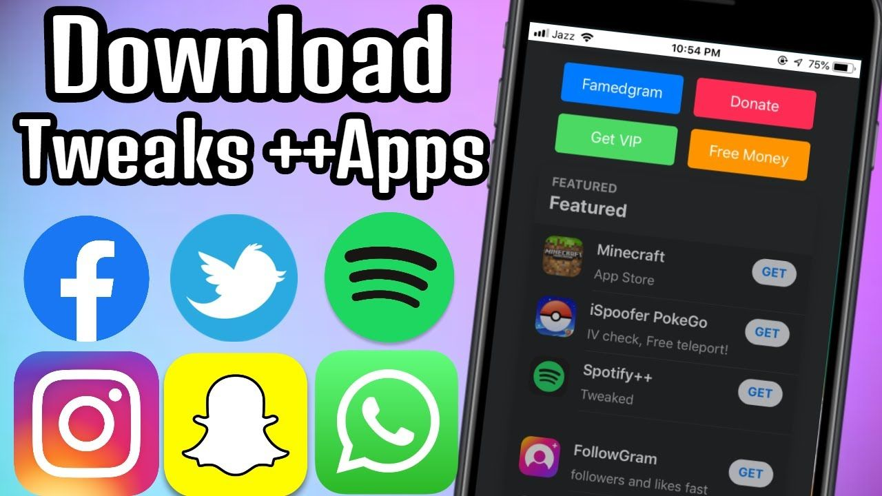 How to Download Tweaks apps & ++apps free on iPhone (No