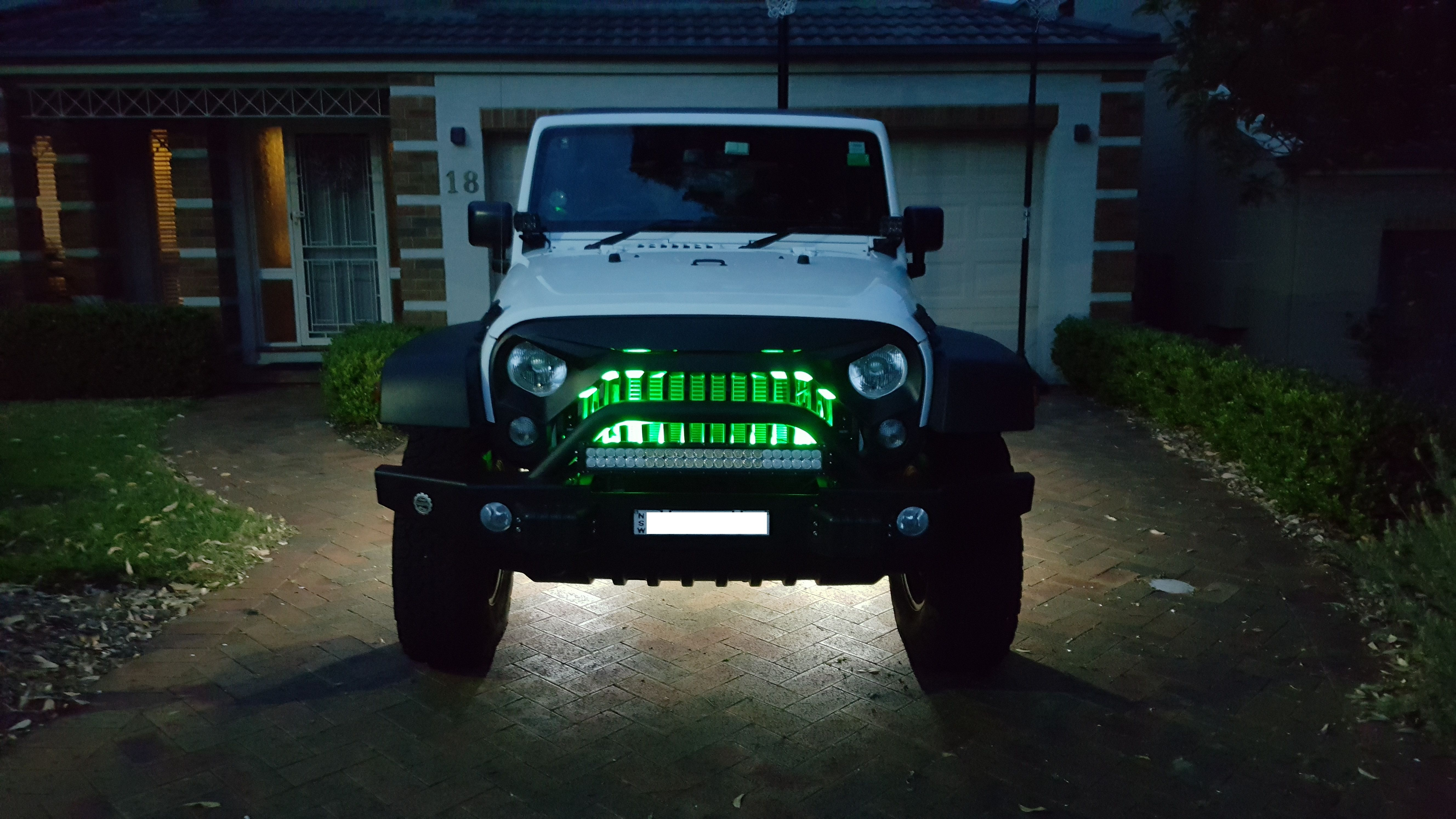 Jeep Wrangler Jk Lux Led Rock Lights 4 Underneath And 2 Green