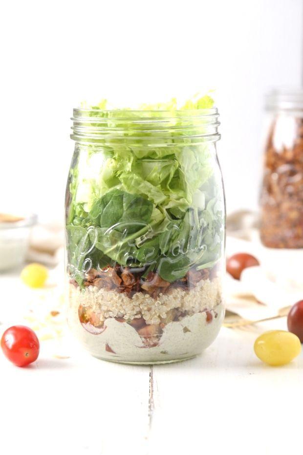 Healthy Power Grain BLT Salad ToGo  Vegan GlutenFree  OilFree  The Plant Philosophy