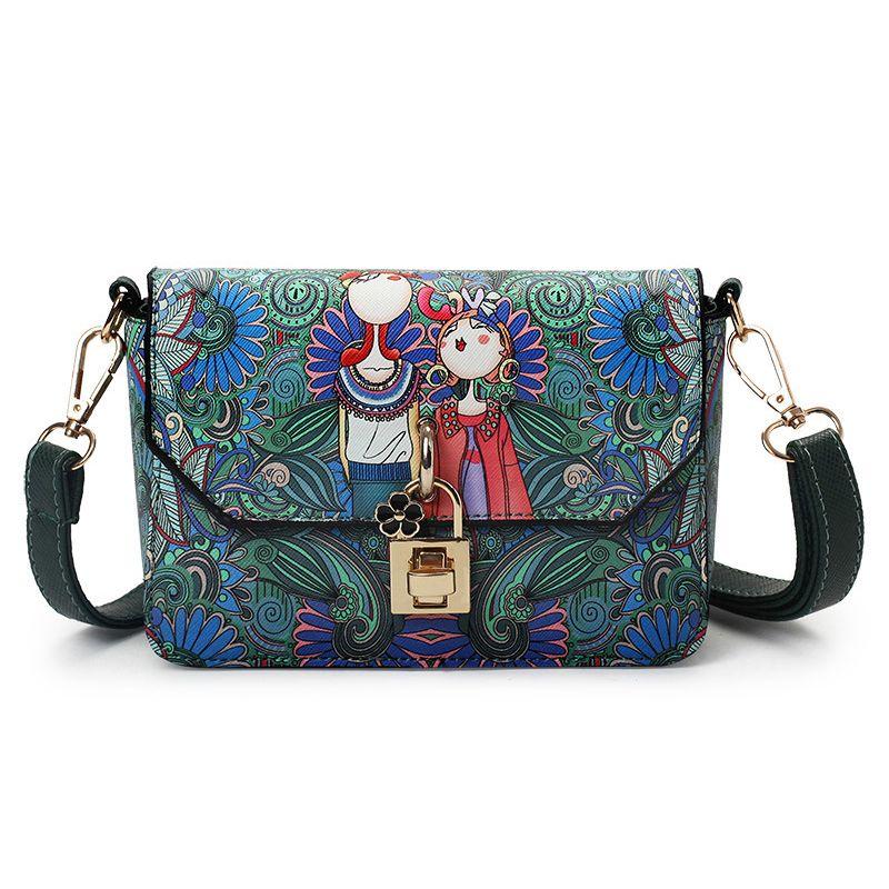 2017 New Women Forest Printing Leather Bag High Quality Women s Bag  Shoulder Bag Designer Women Crossbody Bags Clutch Mini bolsa 1c2246f77053b