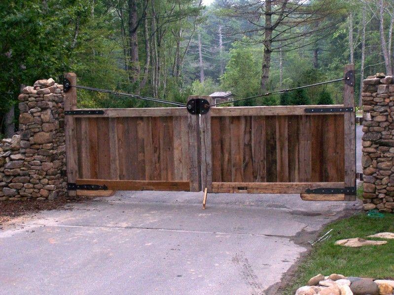 Rustic Wooden Gates Garden Arbors