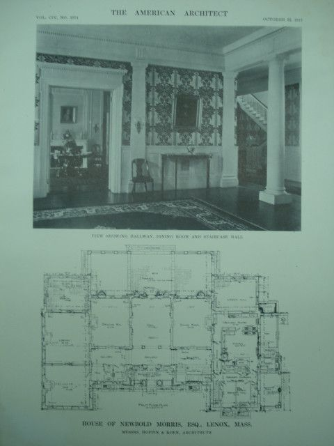 Interior And First Floor Plan Of The House Of Newbold