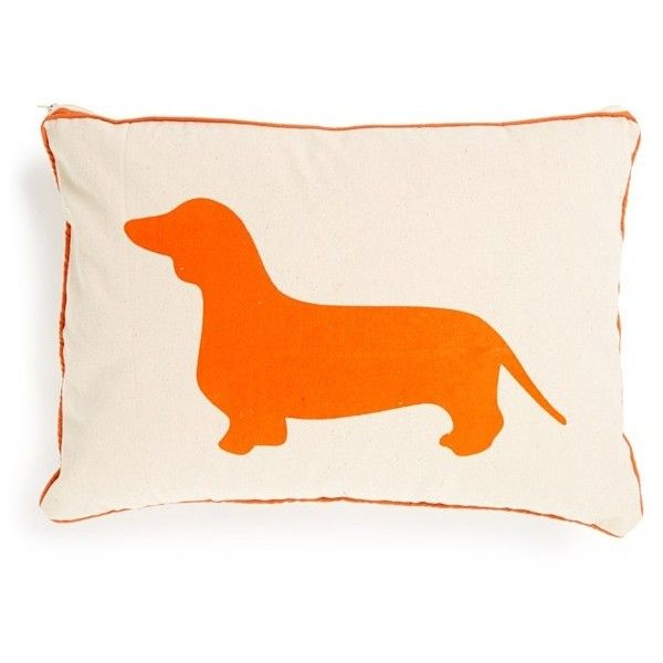 ROMY + JACOB U0027Dachshundu0027 Pillow Found On Polyvore Featuring Polyvore, Home,  Home