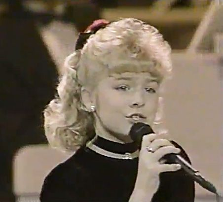 An 8-year-old LeAnn debuted to national audiences on the popular talent show Star Search in 1991.