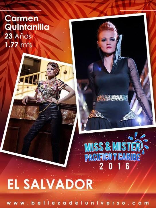 MISS EL SALVADOR PACIFICO Y CARIBE 2016 -CARMEN QUINTANILLA