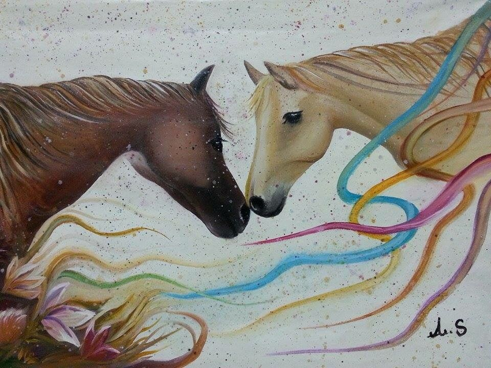 رسم خيل Moose Art Art Animals