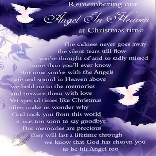 Missing My Husband At Christmas Quotes: Remembering Our Angel In Heaven Lovethispic.com