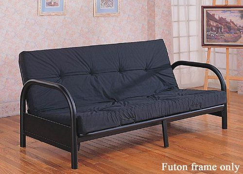 Coaster Metal Full Size Futon Frame With Small Armrest In Black Listing Price 529 00