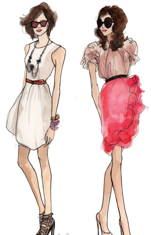Fashion drawing by Inslee