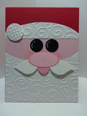 Paperland CREATIONS: Santa's Card - Santa Claus Card: