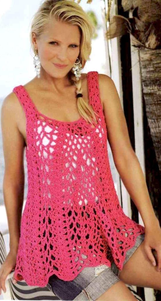 Favorite patterns - crochet top 6010 | Crochet-womens patterns ...