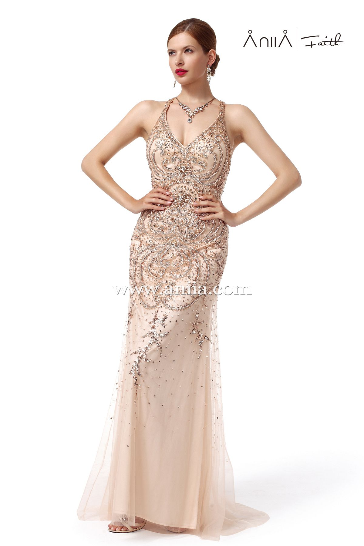I LUV that dress!!! So delicate and also luxurious! And don't even mention those beads and sequins! I'll pin a detail pic soon so you can all see those wonderful patterns!