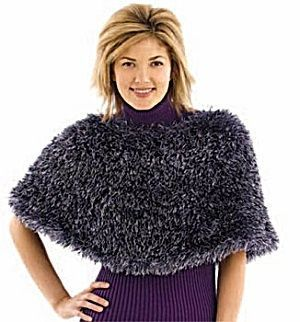 Photo of capelet – Free Knitting Pattern 40481 Knit Classy Capelet : Lion Brand Yarn Comp…