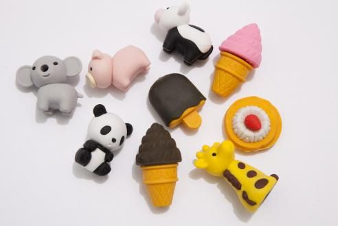 cool school supplies animal erasers