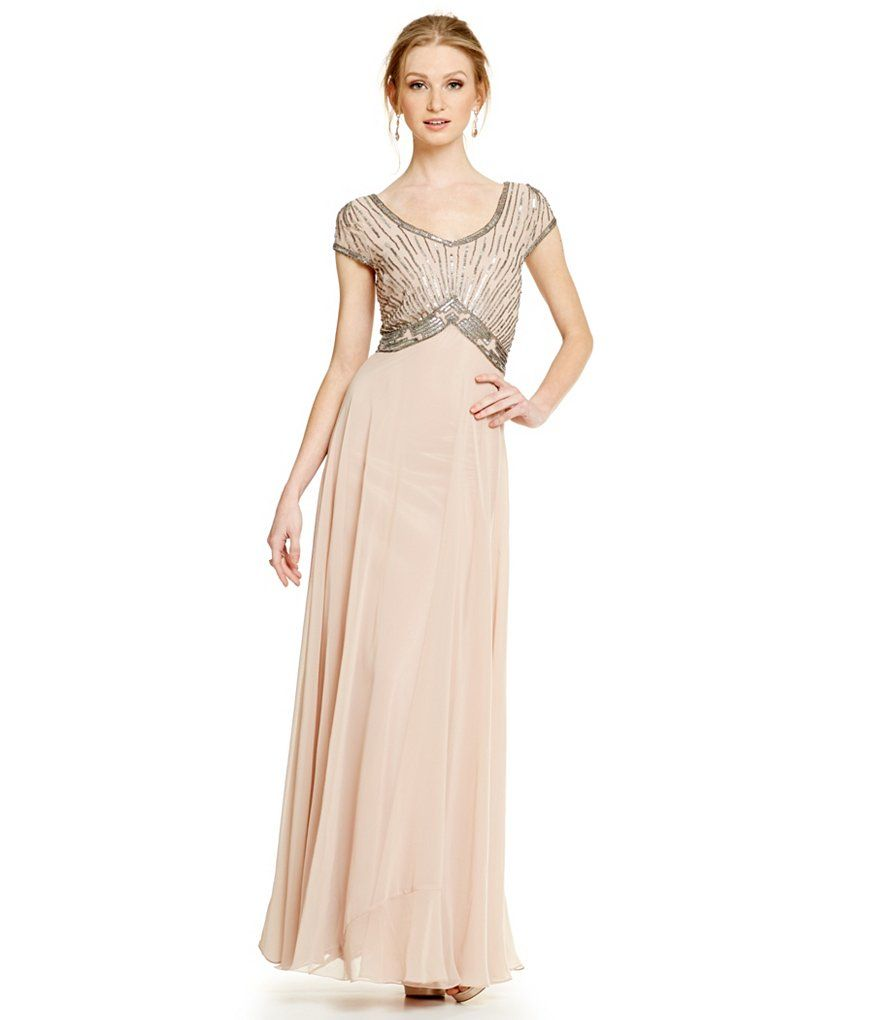 Jkara Petite Deco-Beaded Chiffon Gown | GoB gowns | Pinterest ...