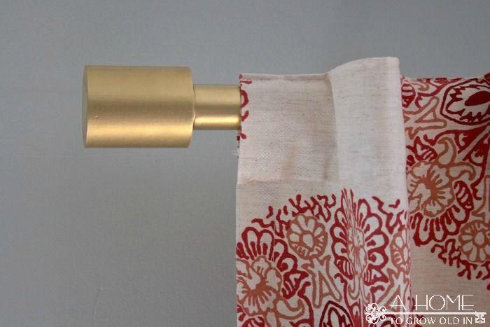 Diy West Elm Oversized Curtain Rod Diy Curtain Rods Baby Room Diy Ikea Curtain Rods