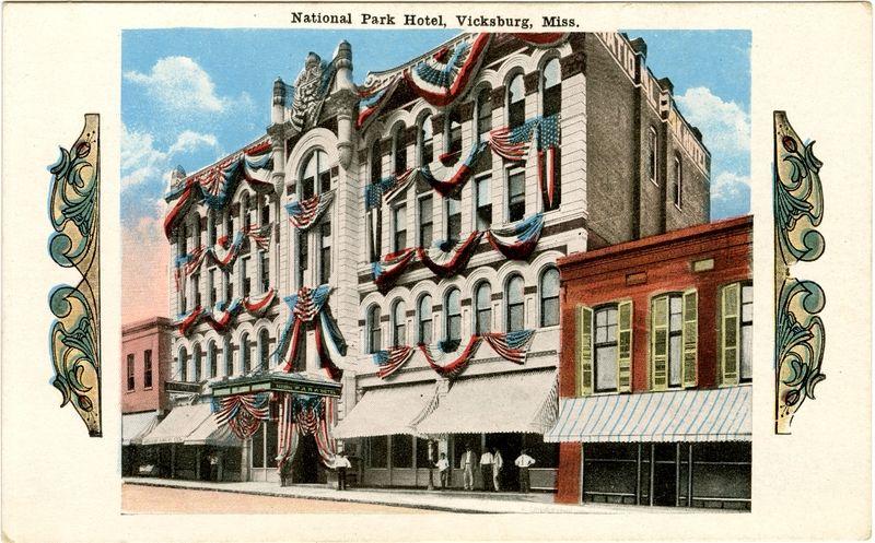 "Cooper Postcard Collection  ""National Park Hotel, Vicksburg, Miss."""