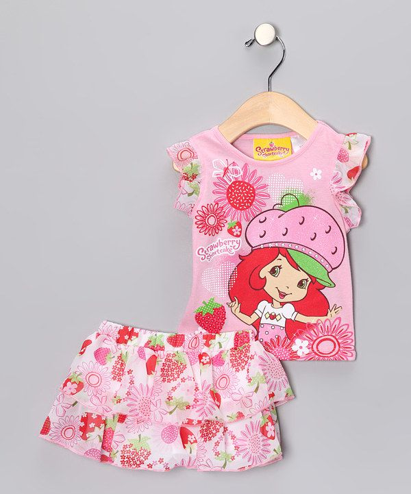 Take a look at this Strawberry Shortcake Pink Strawberry Shortcake Tee & Skort - Infant, Toddler & Girls on zulily today!
