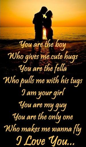 i like you poems for a guy