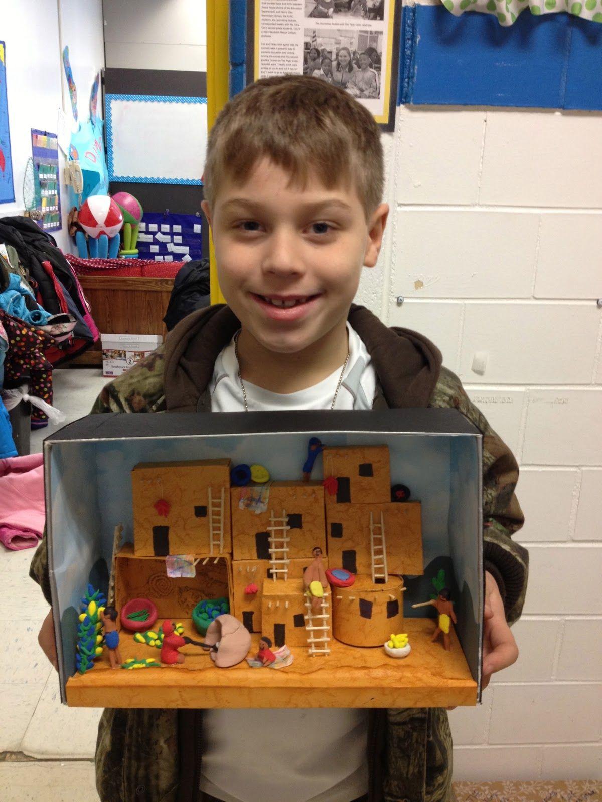 Pueblo houses for school project