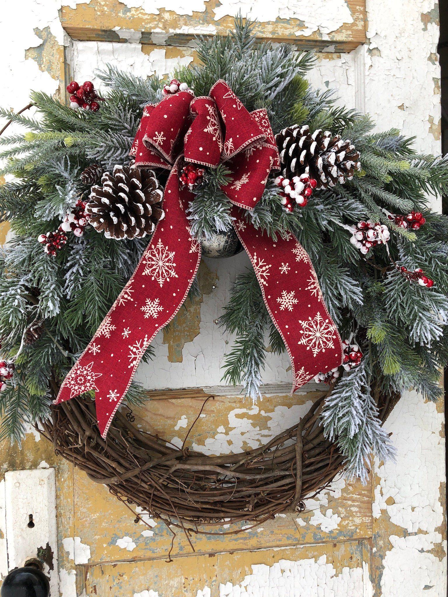 Christmas Wreath Christmas Decor Holiday Wreath Etsy