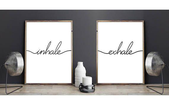 Lamina decorativa Inhale Exhale, Yoga Frase Deco, Inala Exala lamina - new tabla periodica en blanco y negro pdf