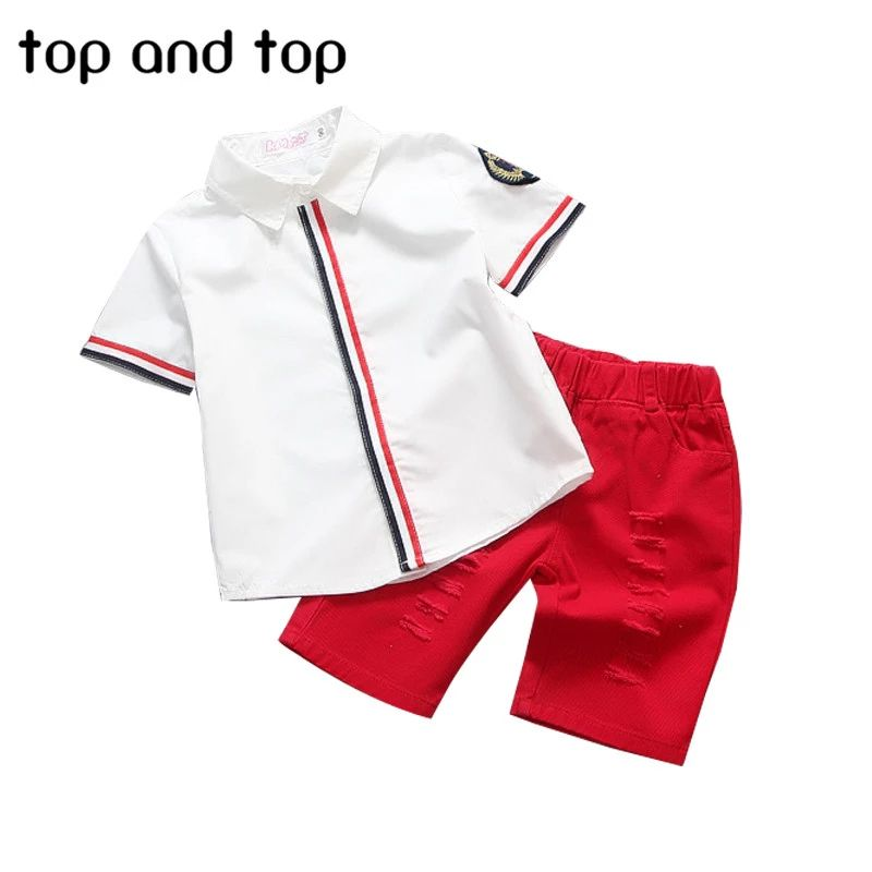 Us 10 25 6 Off 2018 New Kids Clothing Set Baby Boy Cotton T Shirt Short Pants Children Set For Summer Boy Cartoon Clothes Fits 2 Colors 2 6t Clothes Bucket T Baby Boy T