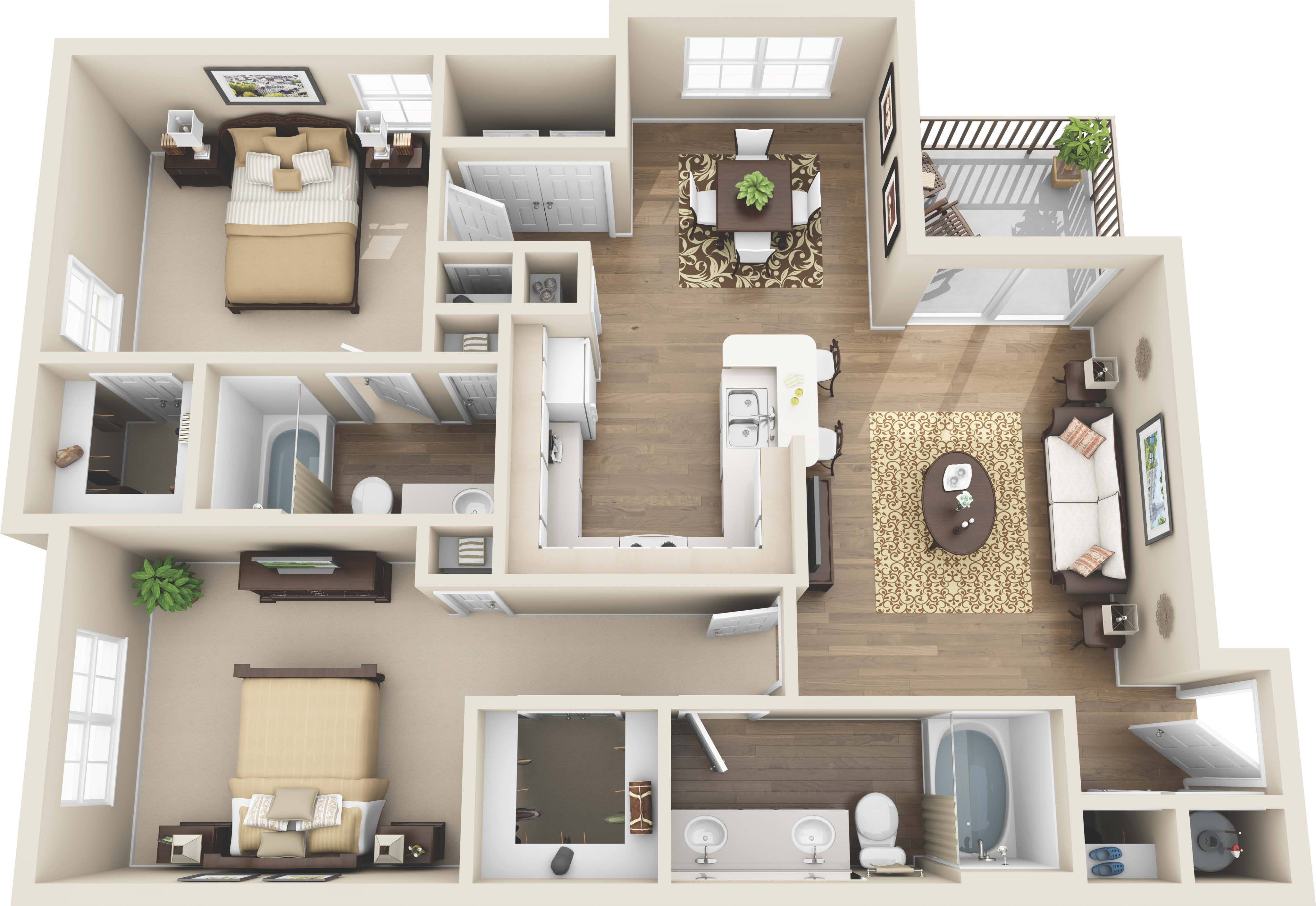 Luxury 1 And 2 Bedroom Colorado Springs Co Apartments Coloradosprings Colorado Apartment Steadfast Sims House Design Two Bedroom Apartments Floor Plans