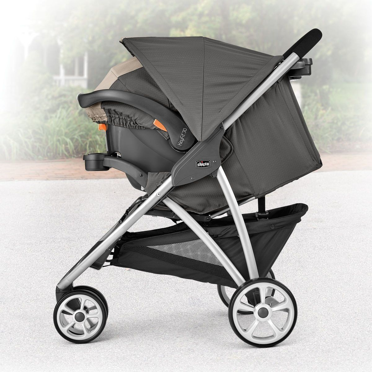 Chicco Viaro 3 Wheel Travel System Stroller with KeyFit 30