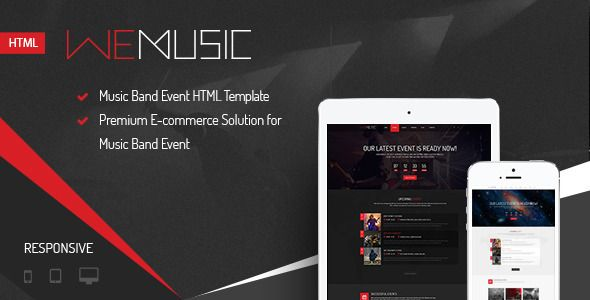 Download Free WeMusic - Music Band Event HTML Template # album ...