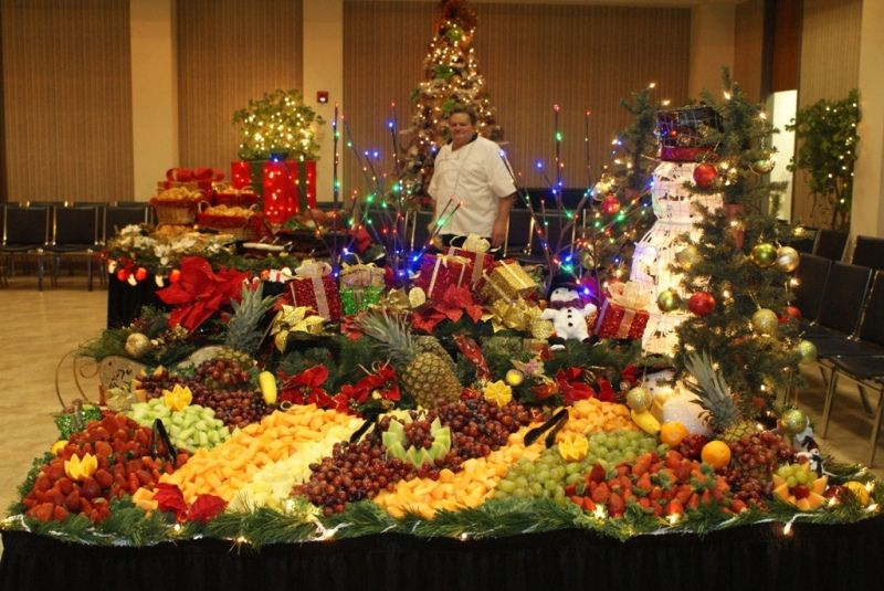 Table Display Ideas funeral table display ideas Christmas Fruit Display Table From Southern Plains College Liz And Sam