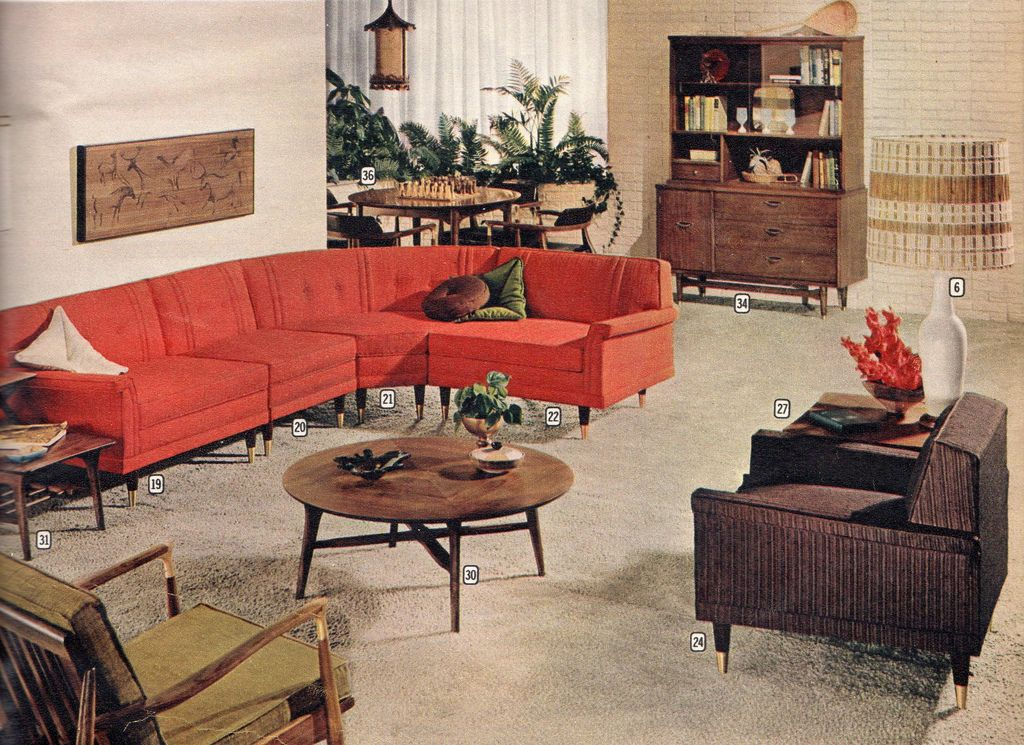 Montgomery ward suburbia furniture 1960 montgomery for 1960s decoration