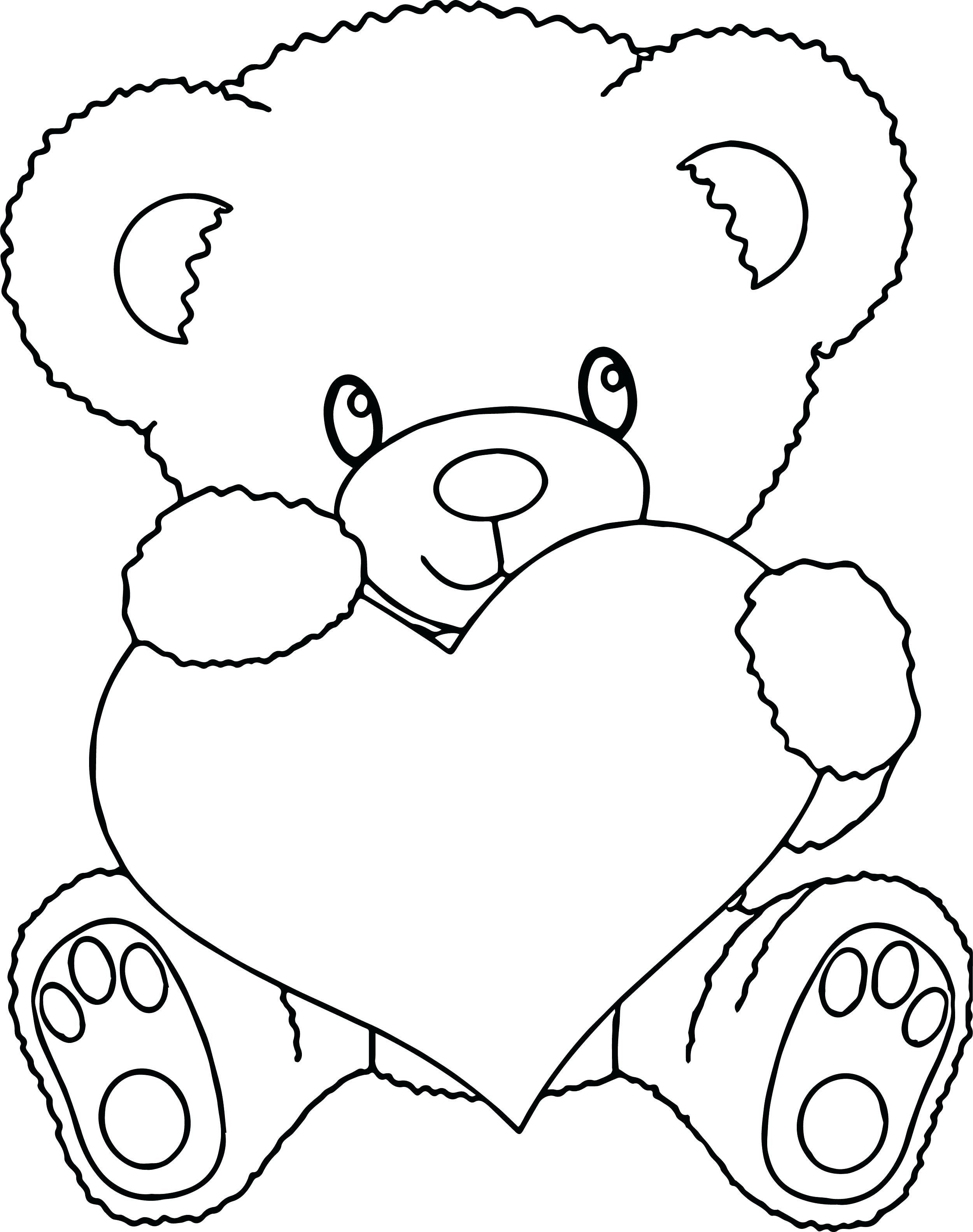 Teddy Bear Coloring Pages Inspirational