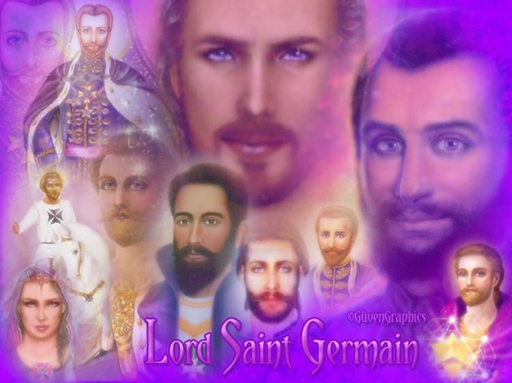 Image result for Lord st.Germain with violet flame