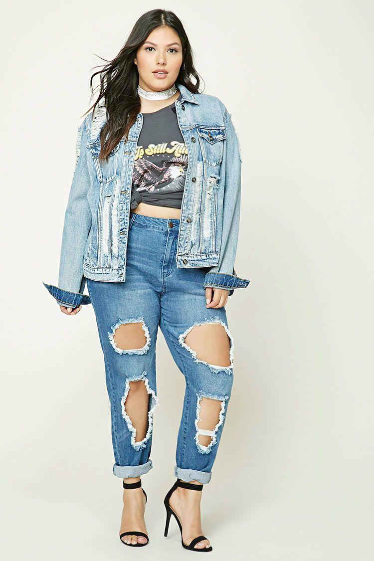 Plus Size Boyfriend Jeans   forever 21   Pinterest   Boyfriend ...