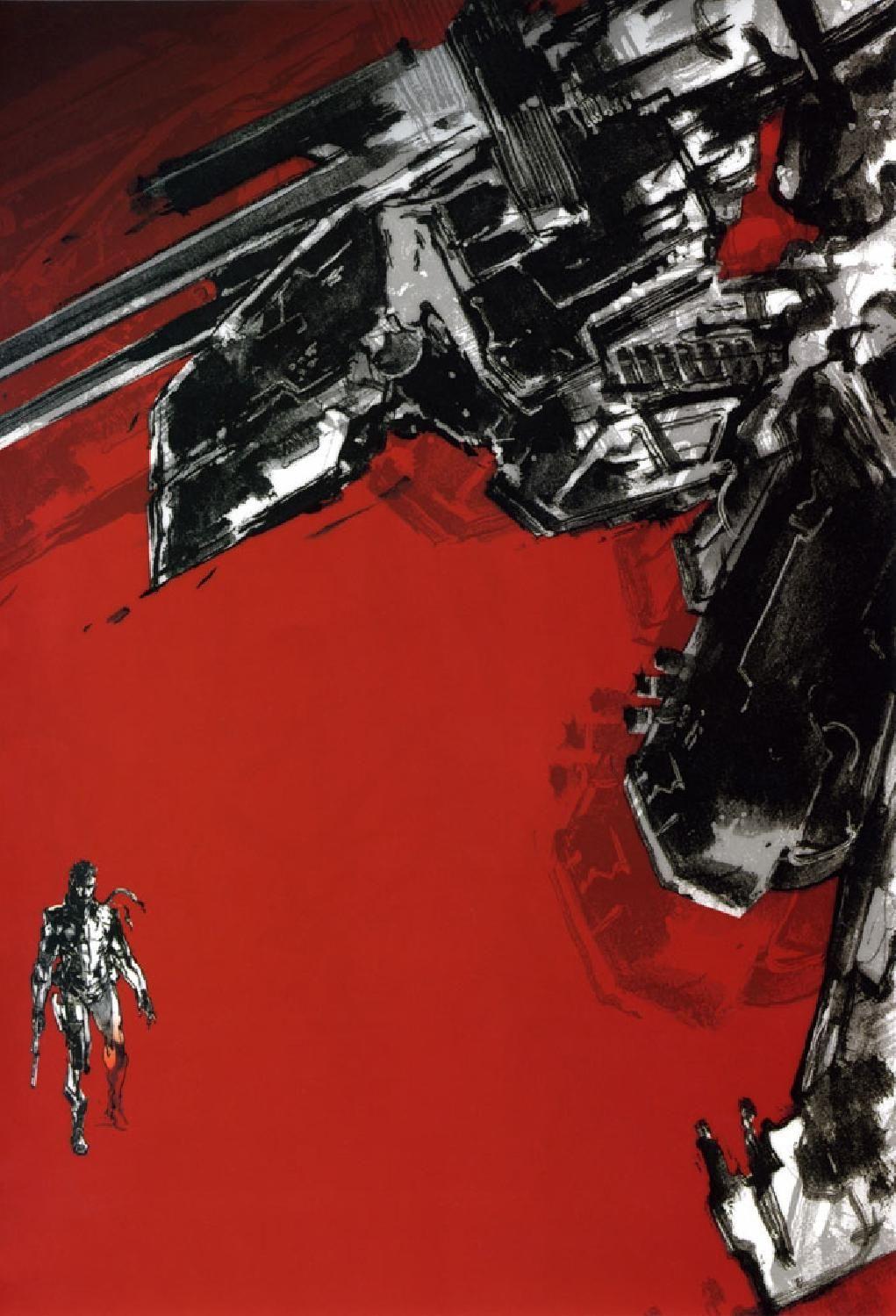 Metal Gear Solid 1.5 Concept Art - Metal Gear Rex & Snake Concept Art