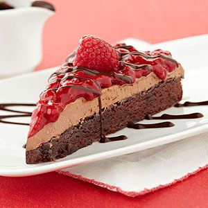 Try This Raspberry Mocha Ice Cream Brownie Cake