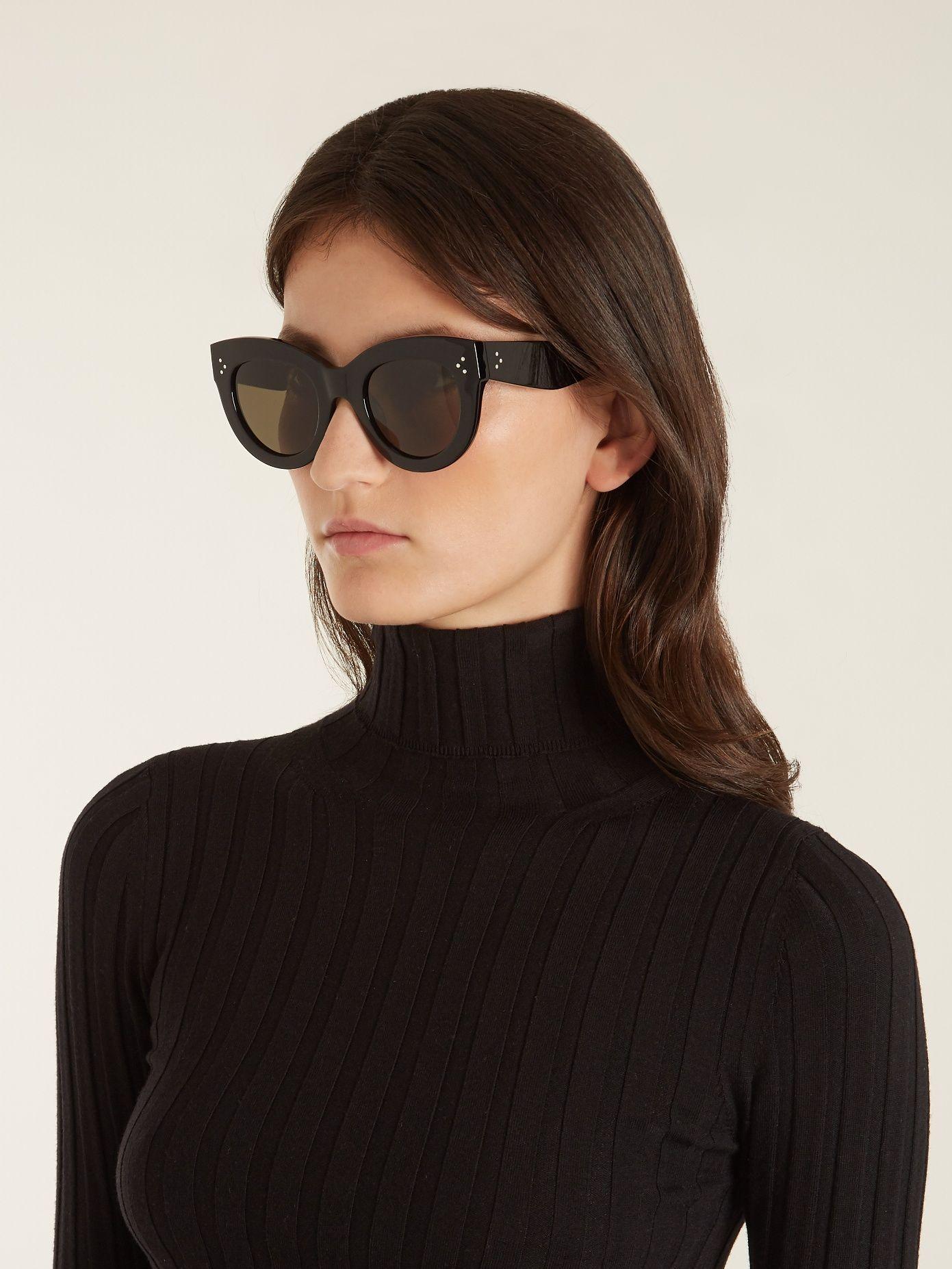 57dbc52165d0 Céline Eyewear Caty cat-eye acetate sunglasses