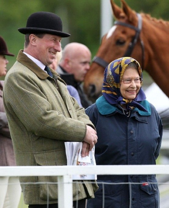 This is more like the Queen Elizabeth II we know with the big smiles on day 1 of the 2013 Royal Windsor Horse Show