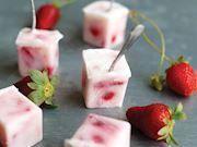 Photo of Frozen strawberry yogurt