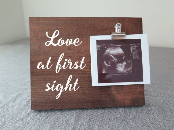 Love at first sight frame ultrasound frame ultrasound picture love at first sight frame ultrasound frame ultrasound picture frame gift for new mom rustic baby shower baby shower decor negle Gallery