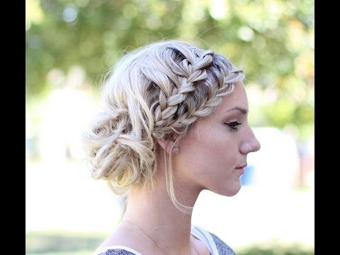 How to Double French Lace Braids into a Messy Bun