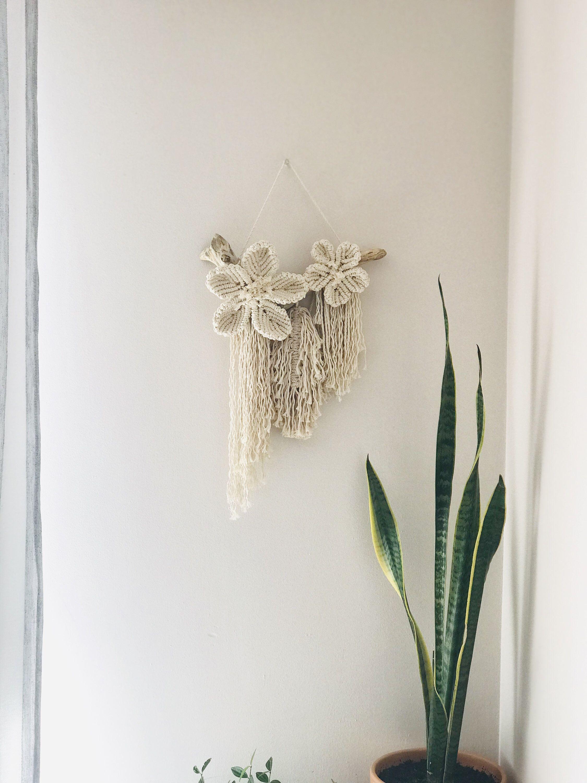Modern Small Macrame Wall Hanging Etsy Macrame Patterns Macrame Wall Art