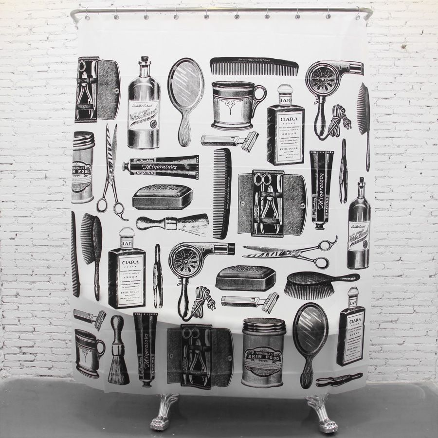 Cool Decorative Black And White Funny Shower Curtains
